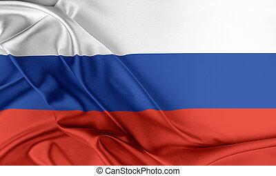 oroszország, flag.