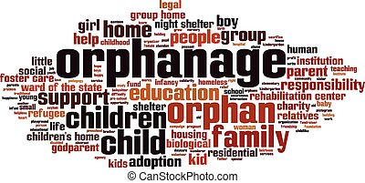 Orphanage word cloud