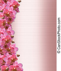orquídeas, borda, convite casamento