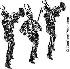 orquesta, ilustración