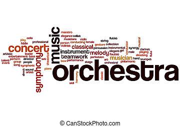 orquesta, palabra, nube
