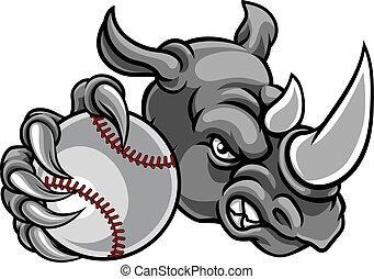 orrszarvú, baseball labda, sport, kabala
