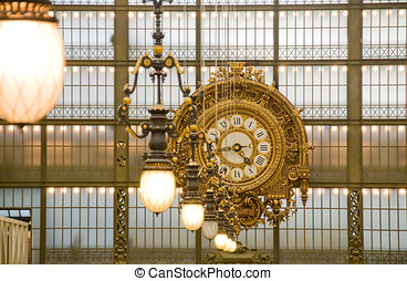 orsay, museum., 在中的鐘, the, 主要, gallery., 巴黎