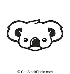 orso koala, segno, logo., vettore