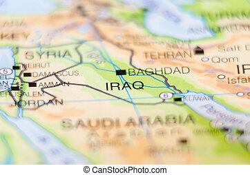 ország, irak, térkép