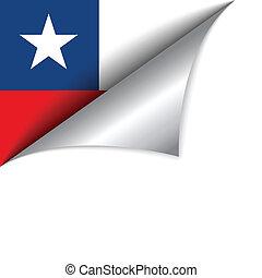 ország, lobogó, fordít oldal, chile