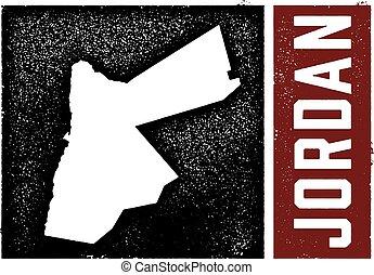 ország, térkép, jordánia, aláír