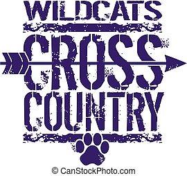 ország, wildcats, kereszt