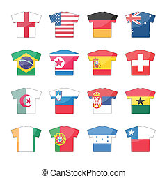 országok, zászlók, ikonok, -, állhatatos, 2, közül, 2
