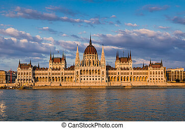 Hungarian Parliament building, Orszaghaz, is the seat of the National Assembly of Hungary, one of Europe's oldest legislative buildings, a notable landmark of Budapest.
