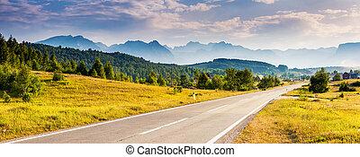ort, berühmter ort, nationalpark, durmitor, balkans., dorf,...