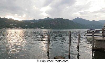 Orta Italian Lake - Sunset over Orta Lake, Piedmont, Italy