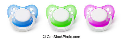 pacifier - orthodontic pacifier isolated on a white