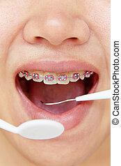orthodontics,dental concept