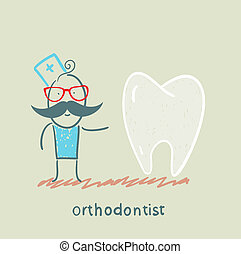 orthodontist is with great teeth