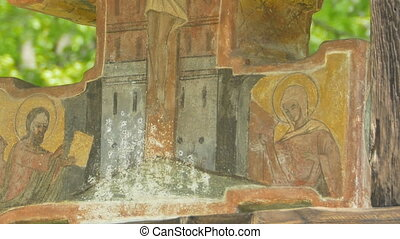 Orthodox Ancient Christ - Tilt shot to an orthodox ancient...