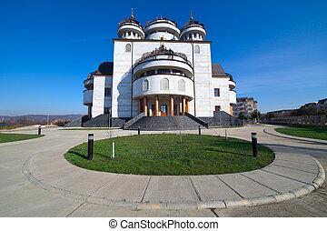 Orthodox cathedral in Mioveni, Romania