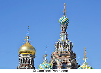 Orthodox cathedral Spas na Krovi in St.Petersburg, Russia.