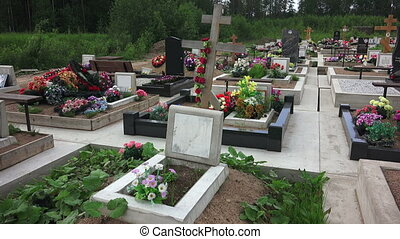 Orthodox Christian cemetery.
