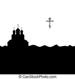 Orthodox church and cross.