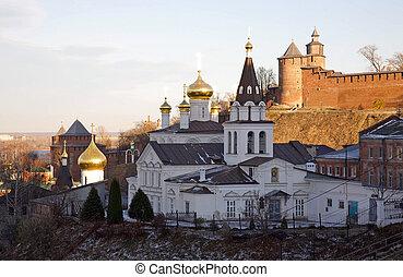 Orthodox Church and the Kremlin in Nizhny Novgorod
