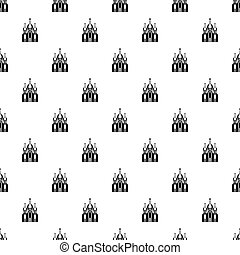 Orthodox church building pattern, simple style