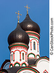Orthodox church domes in Moscow Russia
