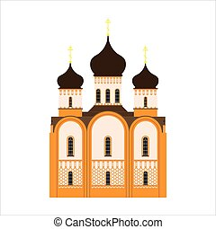 Orthodox church flat icon - A simple icon of the Orthodox...