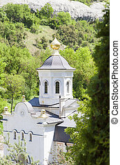Orthodox church in mountains