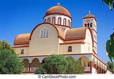 Orthodox Church in the town of Rethymno, Crete, Greece. - ...