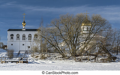 Orthodox church in winter