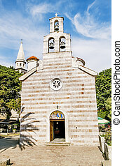 Orthodox Church of the Holy Trinity in the old town of Budva