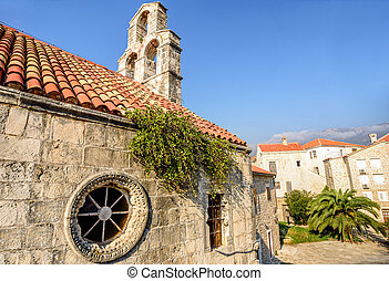 Orthodox Church of the Holy Trinity in the Old Town of Budva, Montenegro