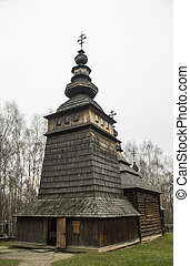 Orthodox church of wood in Ukraine