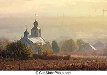orthodox church on a hill