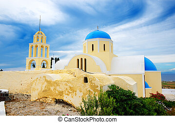 Orthodox Church on Santorini island, Greece