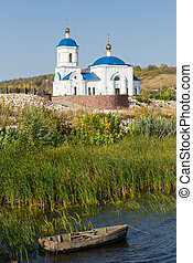 Orthodox Church on the shore of river