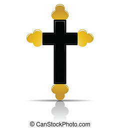 Orthodox cross - Illustration Orthodox cross on a white...