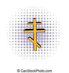 Orthodox cross icon, comics style