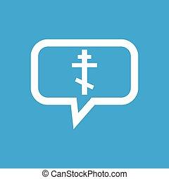 Orthodox cross message icon