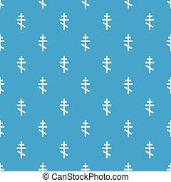 Orthodox cross pattern seamless blue
