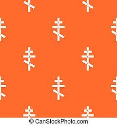 Orthodox cross pattern seamless