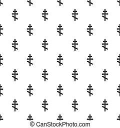 Orthodox cross pattern, simple style