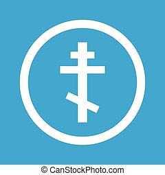 Orthodox cross sign icon