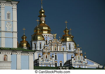 Orthodox Crosses - Orthodox church with much gold, many...