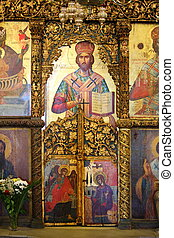 Orthodox icons - Old orthodox icons in a Greek Church