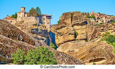 Orthodox monasteries on the rocks in Meteora - Orthodox ...