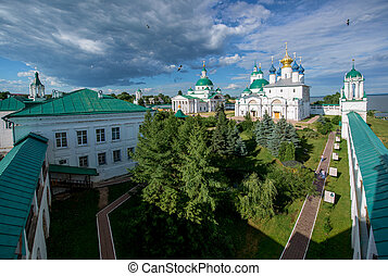 Orthodox monastery in old Russian town Rostov the Great.