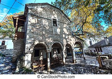 Orthodox old church at Makrinitsa village of Pelion in Greece