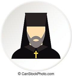 Orthodox priest icon circle